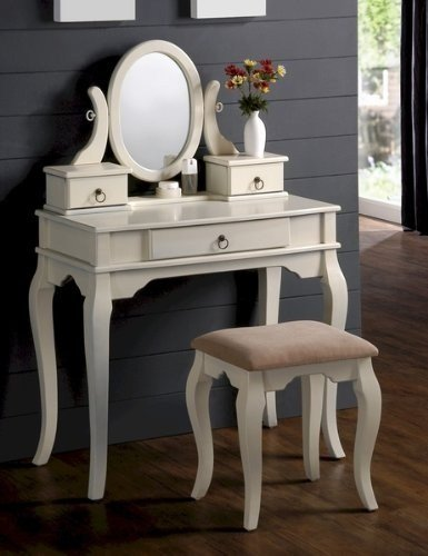 Best Cyber Monday Sale Bedroom Makeup Vanity Set With Traditional Design Vanity Table Mirror And With Pictures