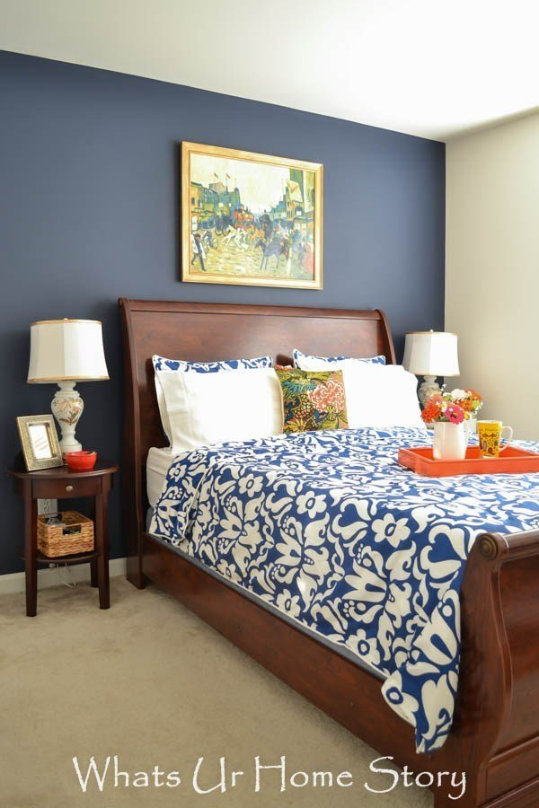 Best Navy And Coral Bedroom Whats Ur Home Story With Pictures
