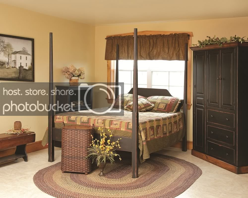 Best Primitive 4 Poster Bed Rustic Country Cottage Bedroom Furniture King Queen Full Ebay With Pictures