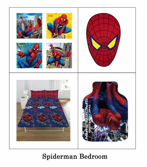 Best Spiderman Bedroom Accessories Uk Spiderman Childs Bedroom Products Bedding Curtains With Pictures
