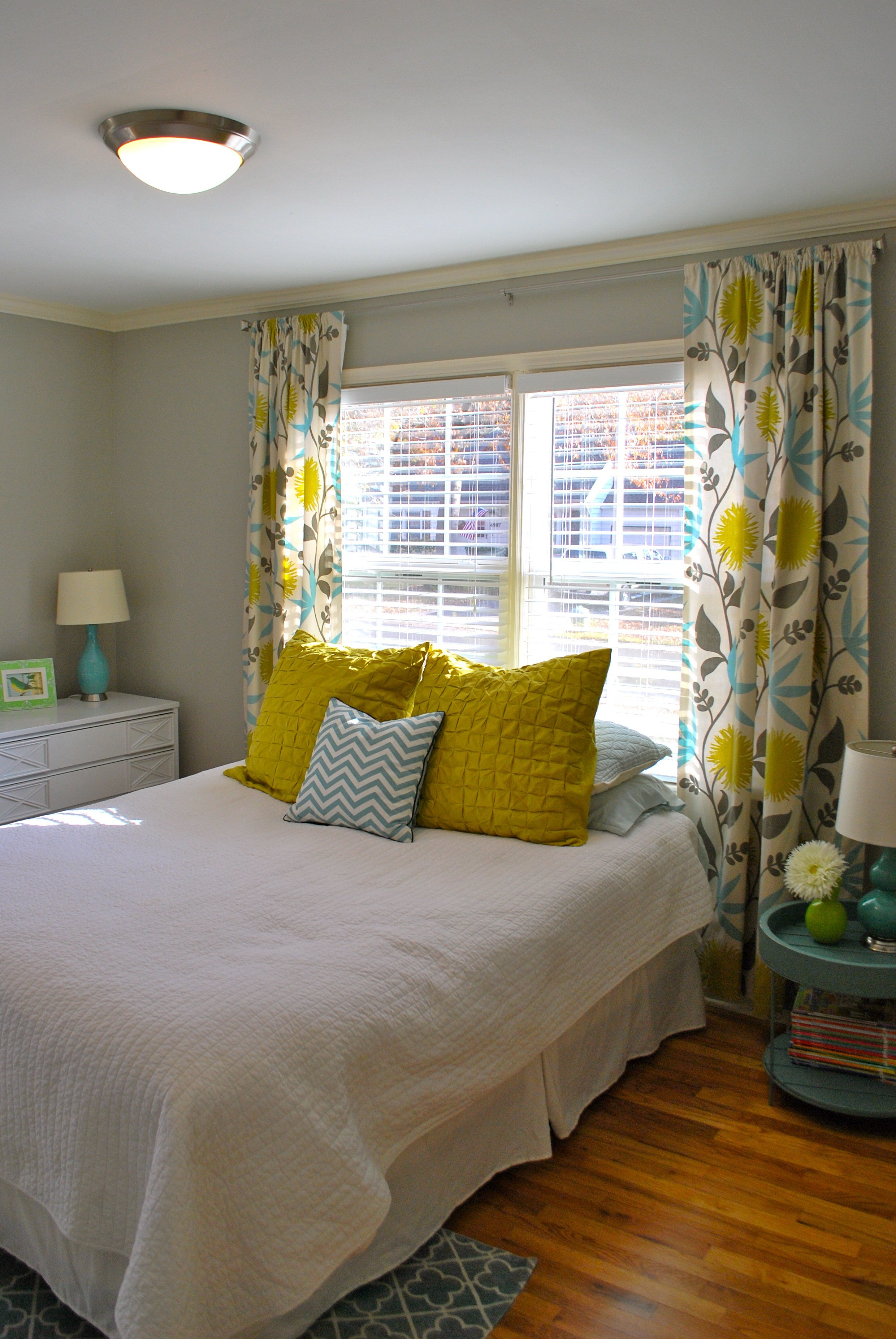Best Yellow Teal Grey Bedroom Bed Room Pinterest Yellow With Pictures