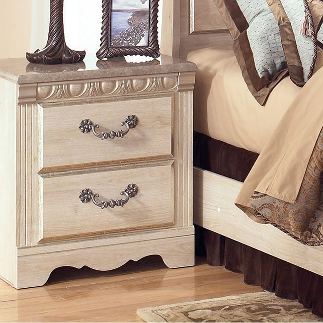 Best Silverglade Two Drawer Night Stand Signature Design By Ashley Furniture Furniturepick With Pictures