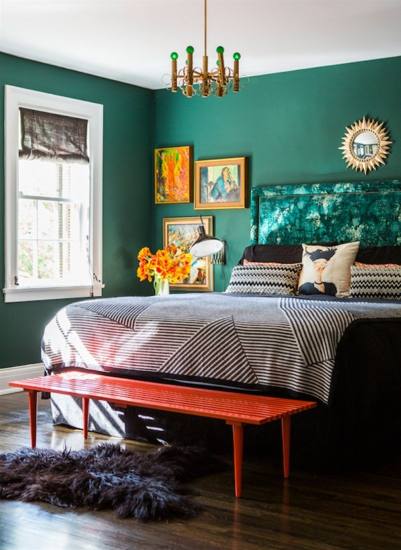 Best 10 Stunnning Emerald Green Bedroom Designs – Master With Pictures