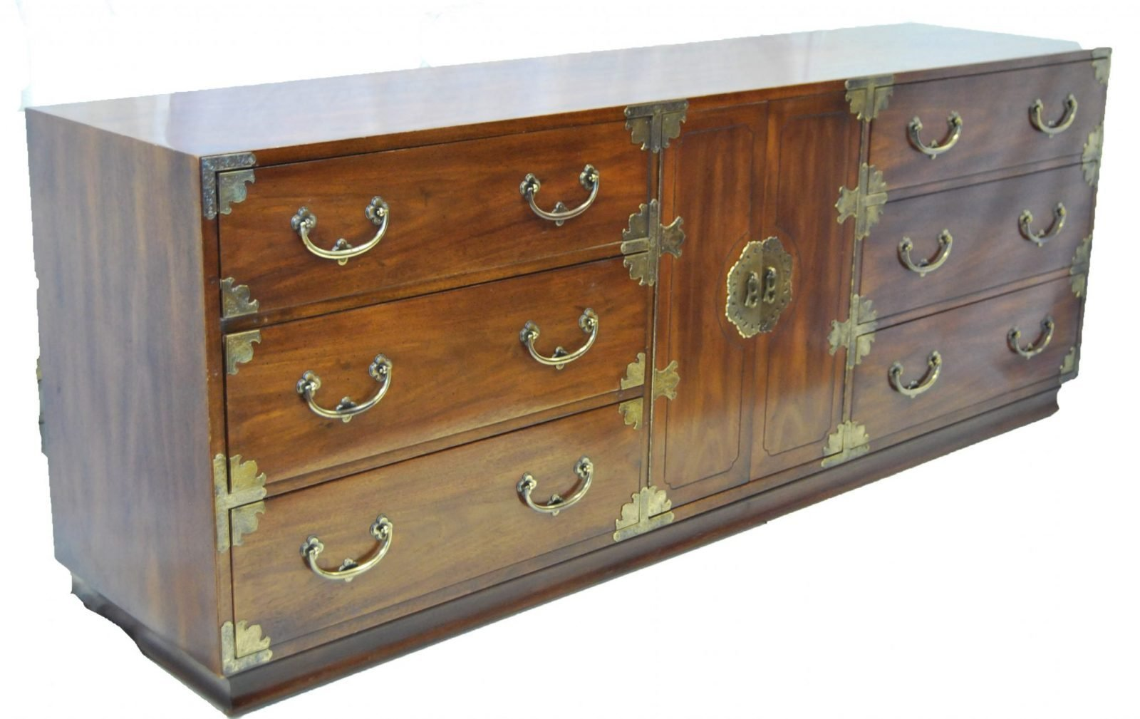 Best Asian Inspired Campaign Long Chest Of Drawers By Henredon With Pictures