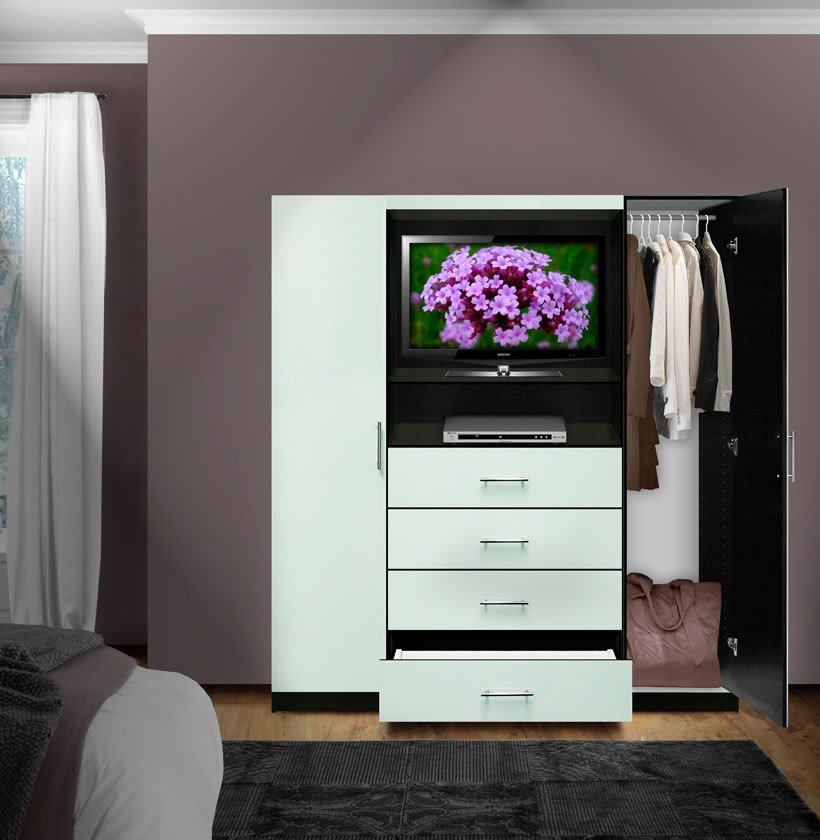 Best Aventa Bedroom Tv Armoire Contempo Space With Pictures