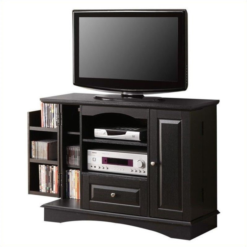 Best Walker Edison 42 Bedroom Console W Media Storage Black Tv With Pictures