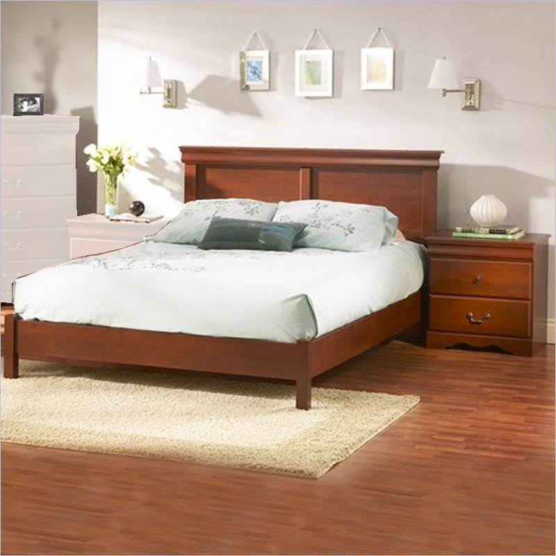 Best South Shore Vintage Classic Cherry Queen Wood Platform Bed With Pictures