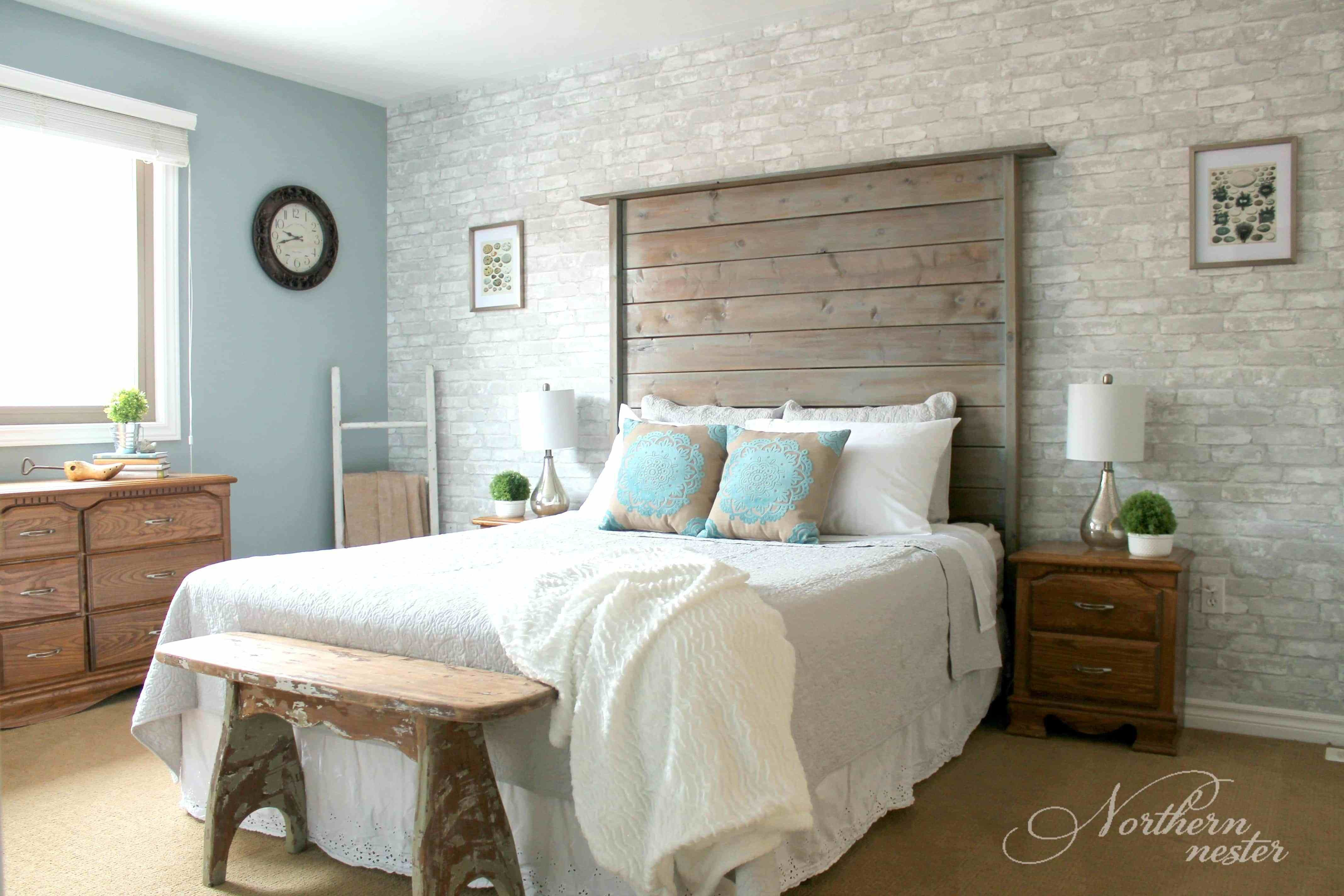 Best Neutral Farmhouse Master Bedroom Makeover Before After With Pictures