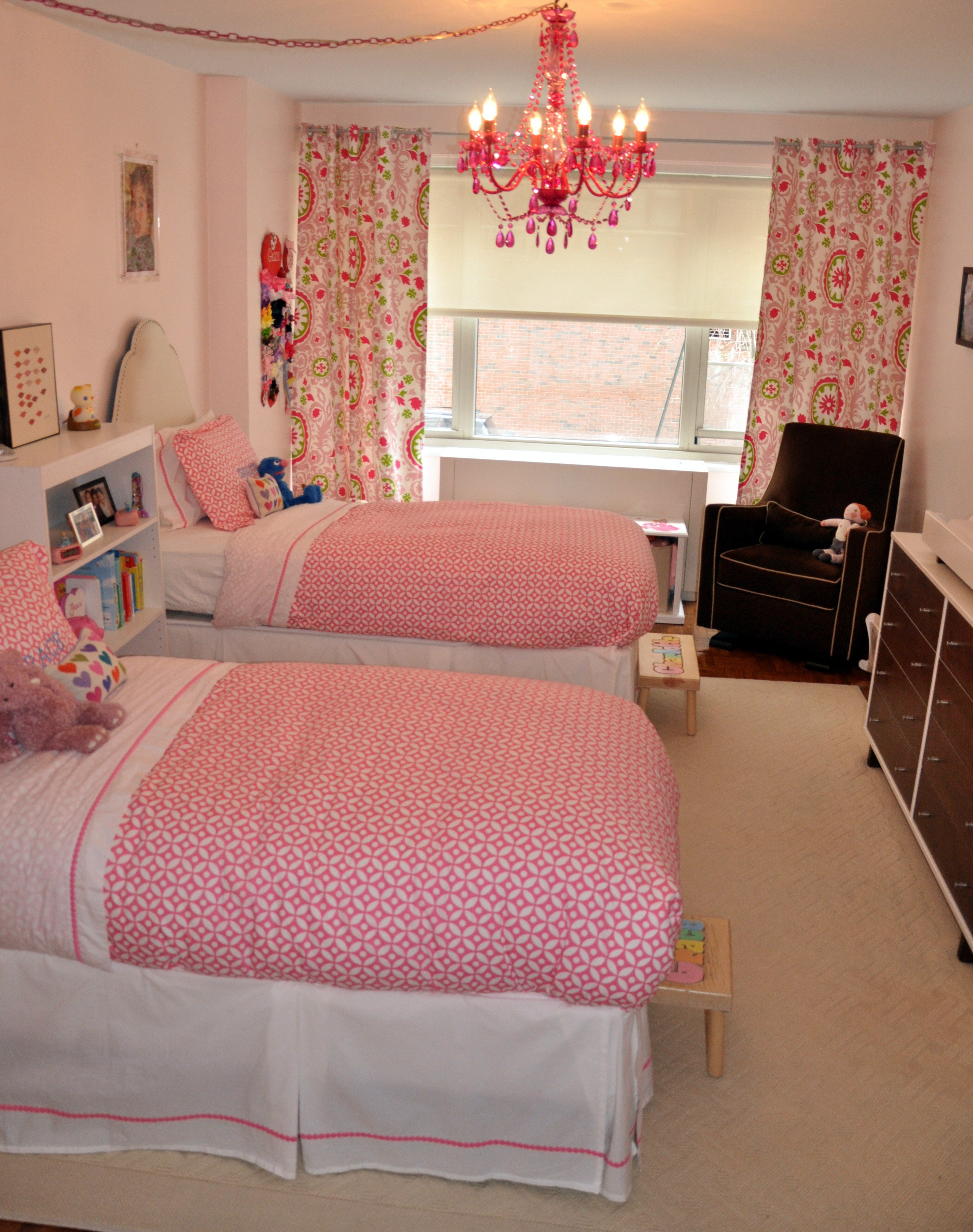 Best Little Girls Shared Pink Bedroom Project Nursery With Pictures