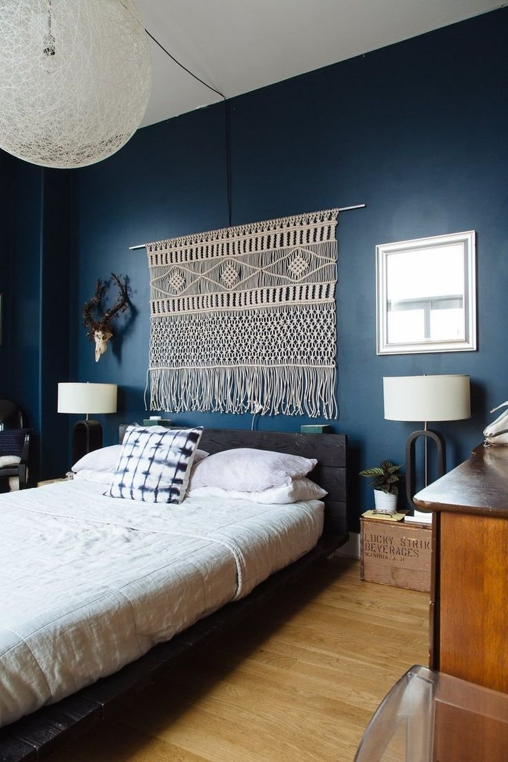 Best Navy Dark Blue Bedroom Design Ideas Pictures With Pictures
