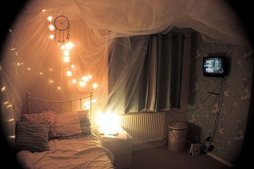 Best Bed Bedroom Lights Pretty Room Image 188888 On With Pictures