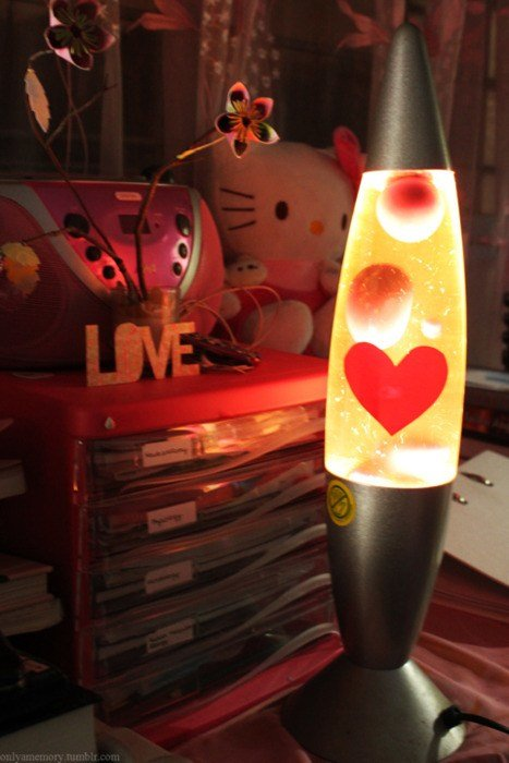 Best Bedroom Flowers Heart Lava Lamp Love Image 225510 With Pictures