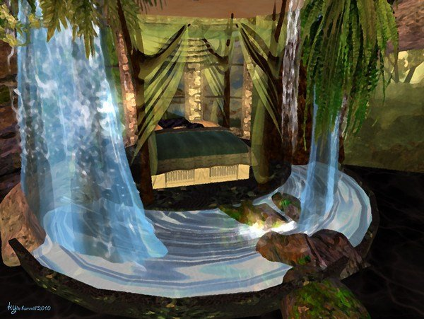 Best Serenity Falls Treehouse Bedroom Waterfall 2 By Kyri With Pictures