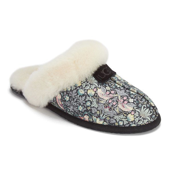 Best Ugg Women S Scuffette Liberty Sheepskin Collar Slippers With Pictures