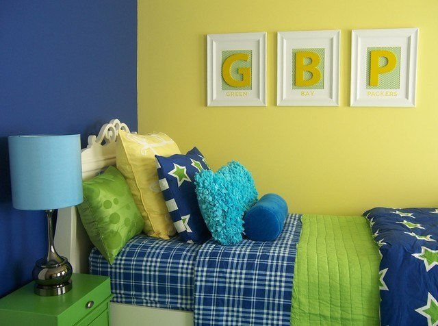 Best Yellow Green And Blue Girl S Bedroom Traditional With Pictures