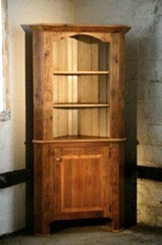 Best Corner Cabinet With Open Top Rustic Boston By Ecustomfinishes With Pictures