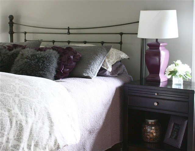 Best Gray And Purple Bedroom Traditional Bedroom Detroit With Pictures