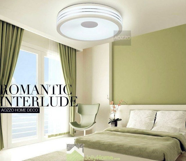 Best Led Bedroom White Round Ceiling Lights Modern Other With Pictures