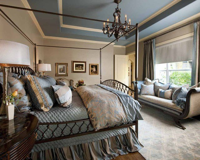 Best Blue And Beige Master Bedroom Traditional Bedroom Dallas By Rsvp Design Services With Pictures