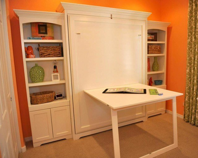 Best Murphy Wall Bed With Custom Side Cabinets Traditional With Pictures