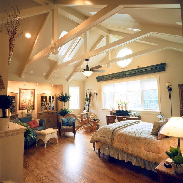 Best Classic Home With Vaulted Ceilings Traditional Bedroom St Louis By Riggs Construction With Pictures