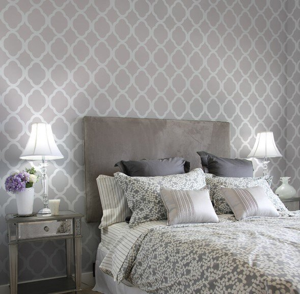 Best Home Decor Wall Stencils Contemporary Bedroom New York By Janna Makaeva Cutting Edge With Pictures