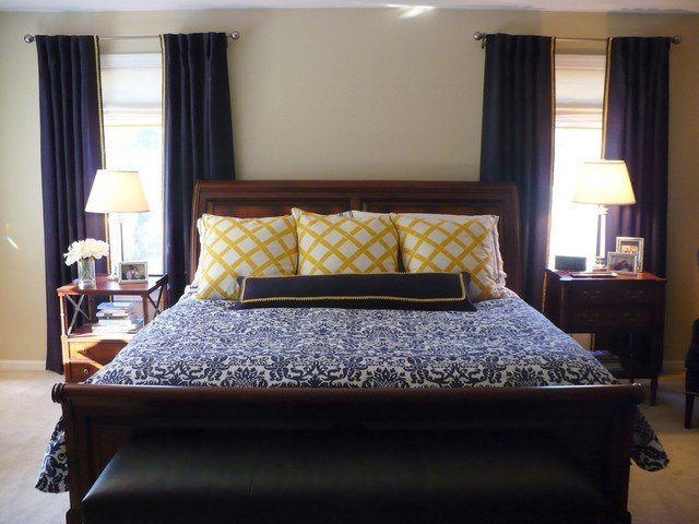 Best Navy Master Bedroom With Gold Accents With Pictures