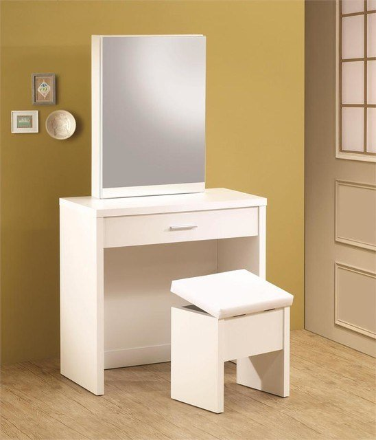 Best White Vanity Desk Modern Bedroom Products Orange With Pictures