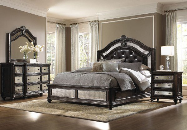 Best Pulaski Furniture Reflexions Upholstered Bedroom Set Pul 609170 71 72 Room Traditional With Pictures