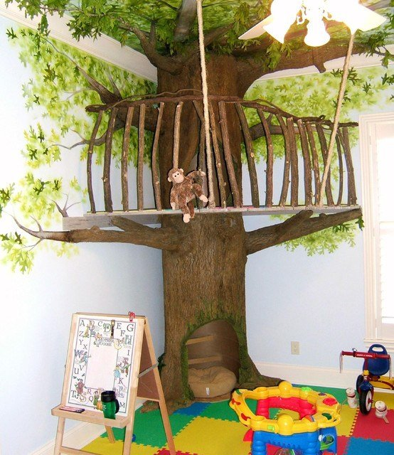 Best Indoor Trees Eclectic Kids Other Metro By Ricky Sauls Decorative Painting With Pictures