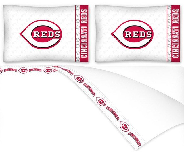 Best Mlb Cincinnati Reds Full Bed Sheet Set Baseball Bedding With Pictures