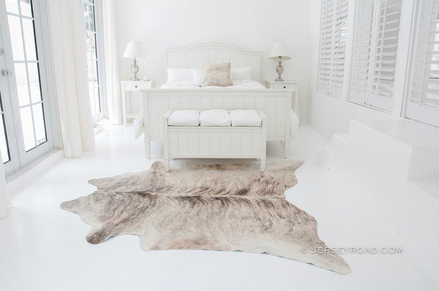 Best Light Brindle Cowhide Rug Contemporary Bedroom Other With Pictures