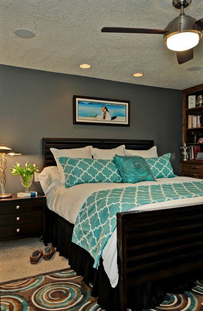 Best Turquoise Master Eclectic Bedroom Boise By Judith With Pictures