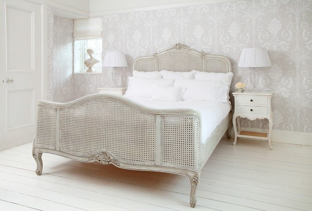 Best French Grey Rattan French Bed Shabby Chic Style With Pictures