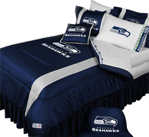 Best Nfl Seattle Seahawks Comforter Pillowcase Football Bedding With Pictures