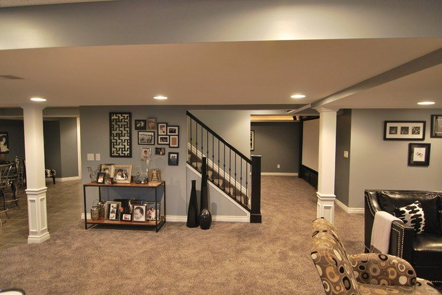 Best Macomb Twp Basement Contemporary Basement Detroit With Pictures