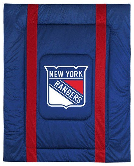 Best Nhl New York Rangers Queen Comforter Sidelines Hockey Bed With Pictures