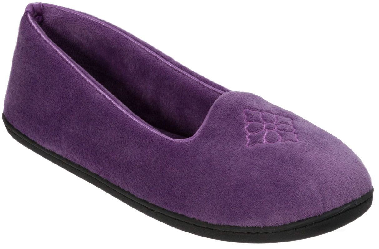 Best Dearfoams Womens Velour Solid Moccasin Slippers Ebay With Pictures