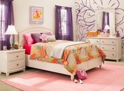 Best Kylie 4 Pc Full Platform Bedroom Set Bedroom Sets Raymour And Flanigan Furniture With Pictures