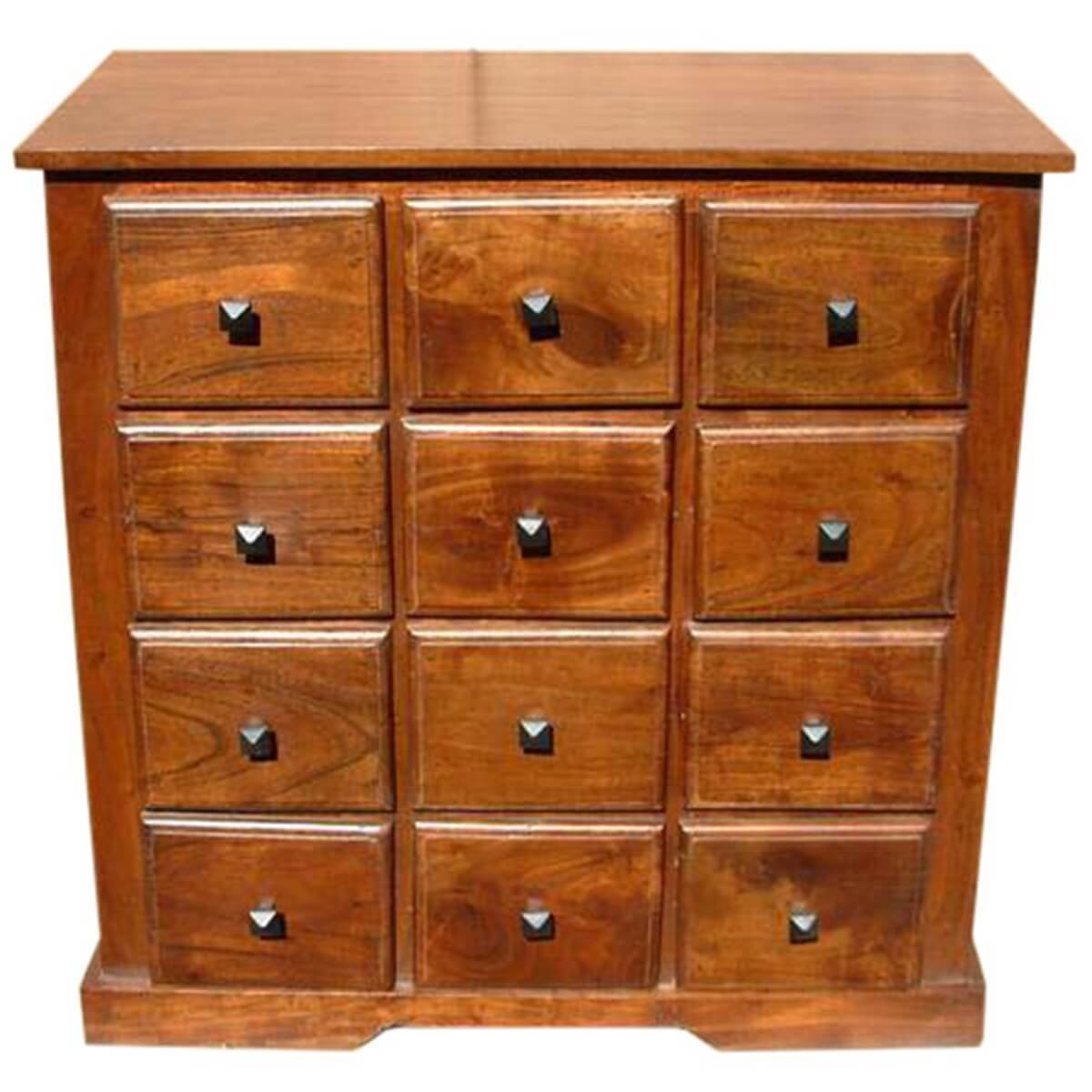 Best Handmade Wooden Bedroom Storage Dresser Chest With 12 Drawers With Pictures