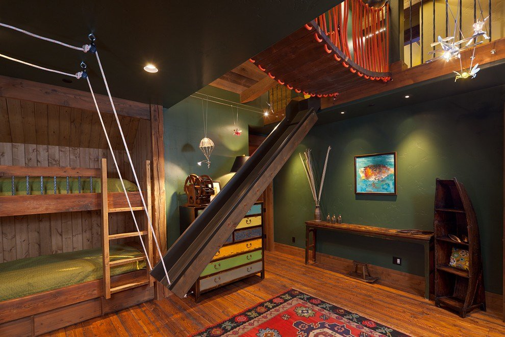 Best Good Looking Bunk Bed With Slide Decoration Ideas For Kids With Pictures