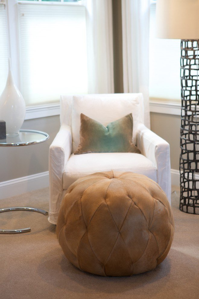 Best Good Looking Pouf Ottoman In Bedroom Contemporary With With Pictures
