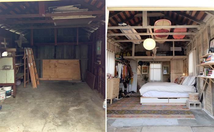 Best See A Dingy Garage Transform Into The Coolest Bedroom Ever Today Com With Pictures