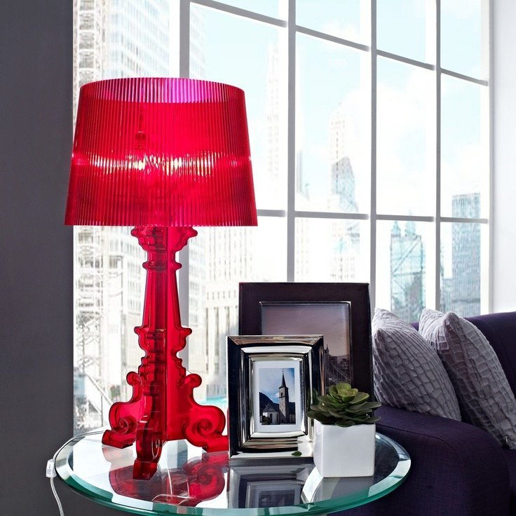 Best Red French Acrylic Table Lamp Master Bedroom Ideas With Pictures