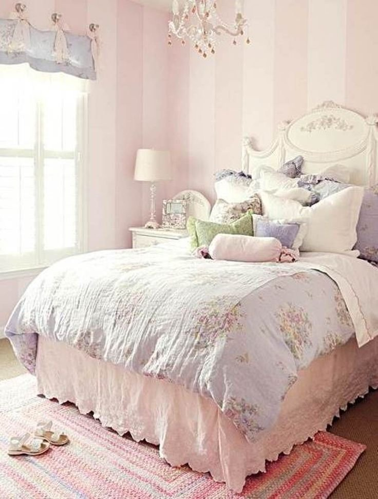 Best Pale Pink Stripes For A Girl S Bedroom Girls Bedrooms With Pictures