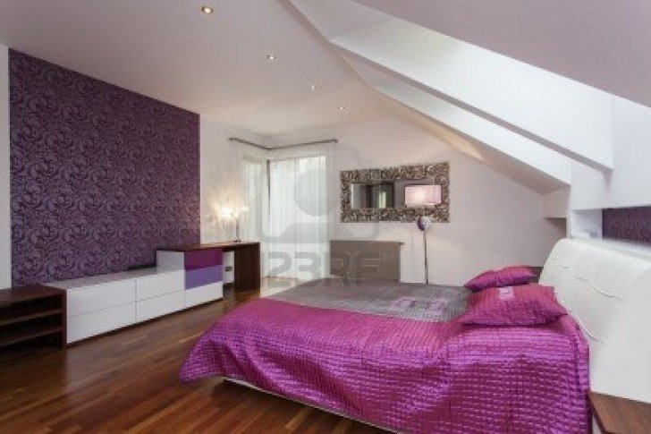 Best Purple Feature Wall Bedroom Pinterest With Pictures