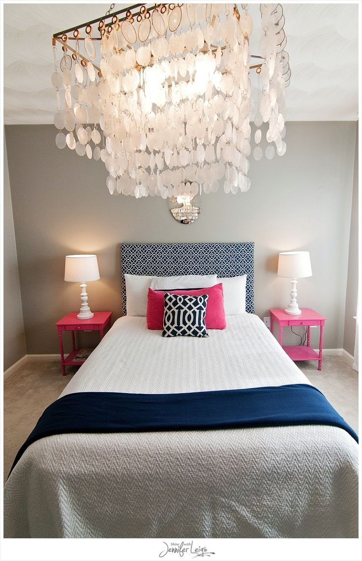 Best Navy And Pink Bedroom With Chandelier Bedrooms Pinterest With Pictures