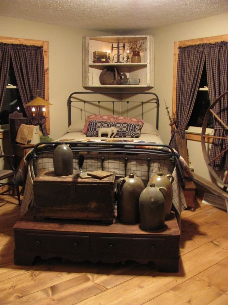 Best Country Prim Bedroom Old Chests Crocks Primitive With Pictures