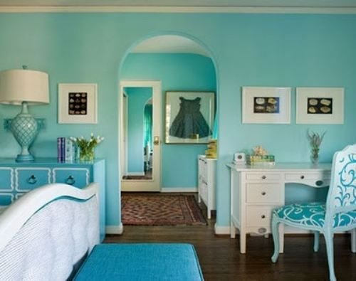 Best Tiffany Blue Wall Color Beachy Decorating Ideas Pinterest With Pictures