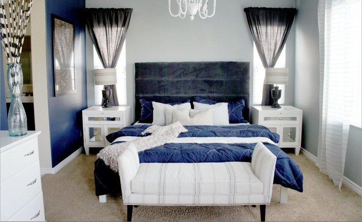 Best Navy Blue And Gray Bedroom With Pictures